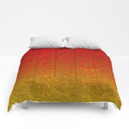 Flame Glitter Gradient Comforters