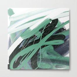 verde menta Metal Print