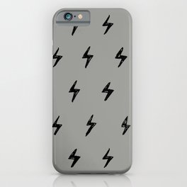 Gray & Black Lightening Bolt Pattern iPhone Case