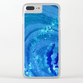 Blue Abstract Modern Art - Infinity - Sharon Cummings Clear iPhone Case