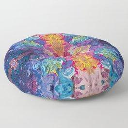 Aurora Swirls Floor Pillow
