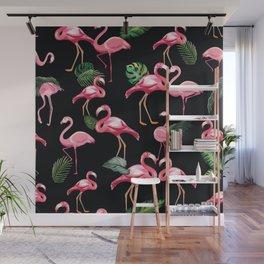 Flamingos Love Pattern 3 Wall Mural