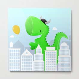 Cute T-rex Metal Print