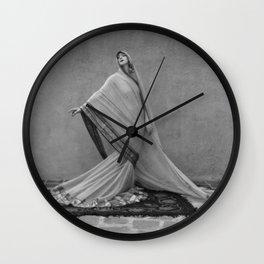 Modern Interpretive Dance, Female Form Fashion black and white photography / photographs Wall Clock