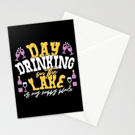 Day Drinking On The Lake is My Happy Place Stationery Cards
