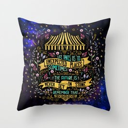The Night Circus- Unexpected Places Throw Pillow