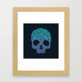 Labyrinthine Skull - Neon Framed Art Print