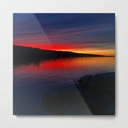 Seneca Harbor Sunset Metal Print