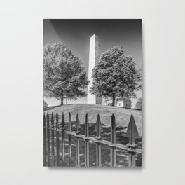 BOSTON Bunker Hill Monument | Monochrome Metal Print