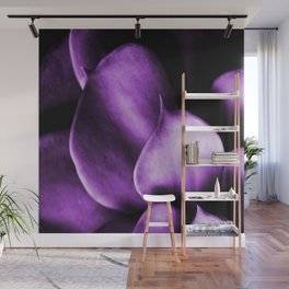 Succulent Leaves In Ultraviolet Color #decor #society6 #homedecor Wall Mural
