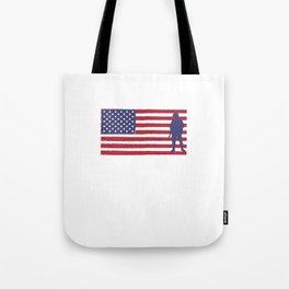 I'm Proud of My Veteran Grandpa Patriotic Tote Bag