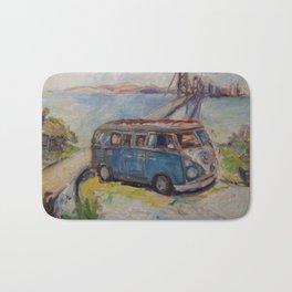Vintage bus Bath Mat