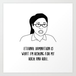 eternal damnation Art Print