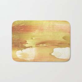 Yellow red Bath Mat
