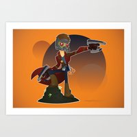 starlord Art Prints featuring Starlord by Mike Spiers Art Store