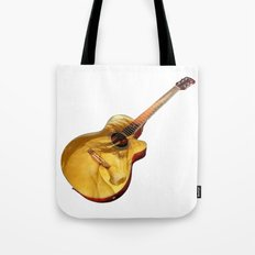 The guitar is a lady Tote Bag