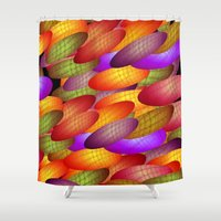 balloons Shower Curtains featuring Balloons by dominiquelandau