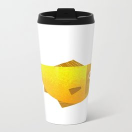 yellow fish Metal Travel Mug