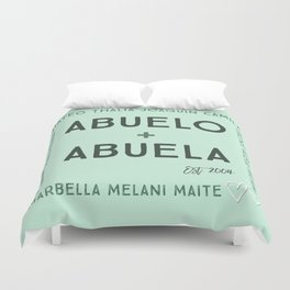 Abuela + Abuelo Duvet Cover