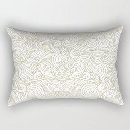 Golden clouds Rectangular Pillow
