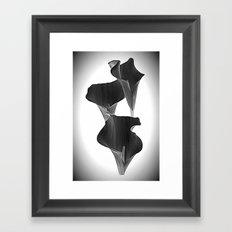 Black Calla Lilly Framed Art Print