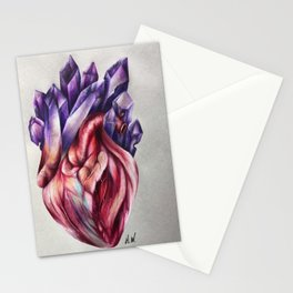 """""""Crystal Heart"""" Drawing Stationery Cards"""