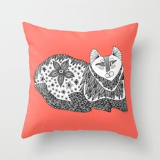 Relaxi-Cat Throw Pillow