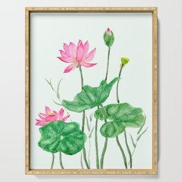 lotus flower Serving Tray