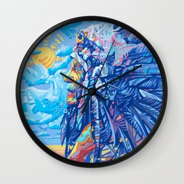native american portrait 3 Wall Clock