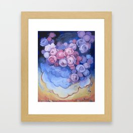 Caught Up In Clouds Framed Art Print