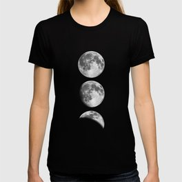 Phases of the Moon print black-white monochrome new lunar eclipse poster home bedroom wall decor T-shirt