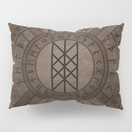 Web of Wyrd The Matrix of Fate- Wooden Texture Pillow Sham