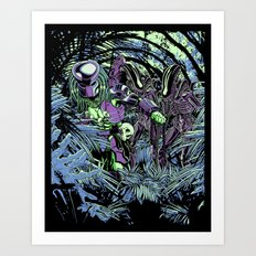 Welcome to the jungle (neon alternate) Art Print