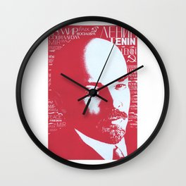 Russia, URSS Vintage Poster, Lenin Wall Clock