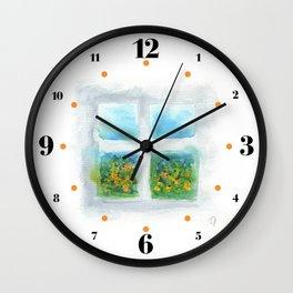 Window #5 Wall Clock