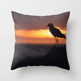 Shadow Bird Throw Pillow