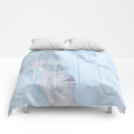 Light Blue Gray Marble Comforters