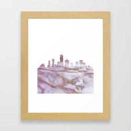 Dallas Texas Skyline Framed Art Print