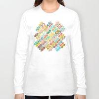 ikat Long Sleeve T-shirts featuring Varsha ikat by Sharon Turner