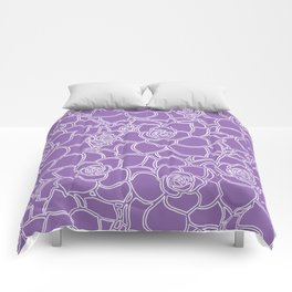 Amethyst Succulent Drawing Comforters