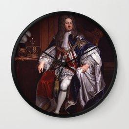 King George I portrait Wall Clock