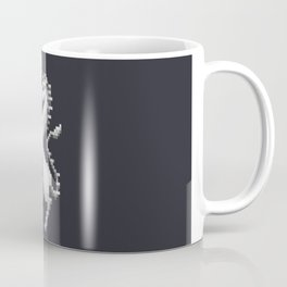 Pixel White Unicorn Coffee Mug