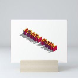 Lorem Ipsum Reto Style Mini Art Print