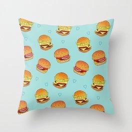 Hearty Burgers Throw Pillow