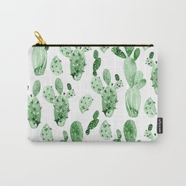 Green Cactus Field - Large Carry-All Pouch