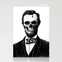 lincoln Stationery Cards featuring Abraham Lincoln by Motohiro NEZU