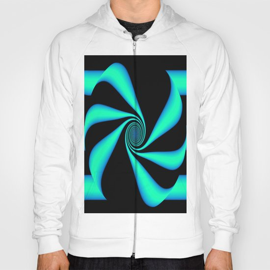 Abstract. Turquoise+Black. Hoody