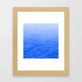 Light-to-Dark Blue Ombre Gradient Grass Framed Art Print