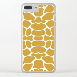 Sudan Brown Safari Giraffe Clear iPhone Case