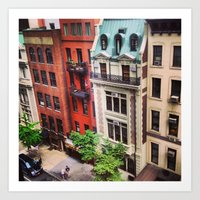 Colorful Streets of New York Art Print